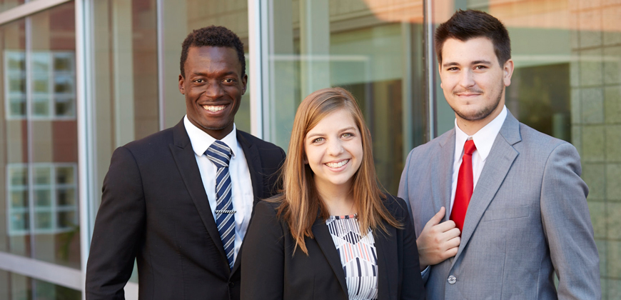 CIU students dressed in business attire.