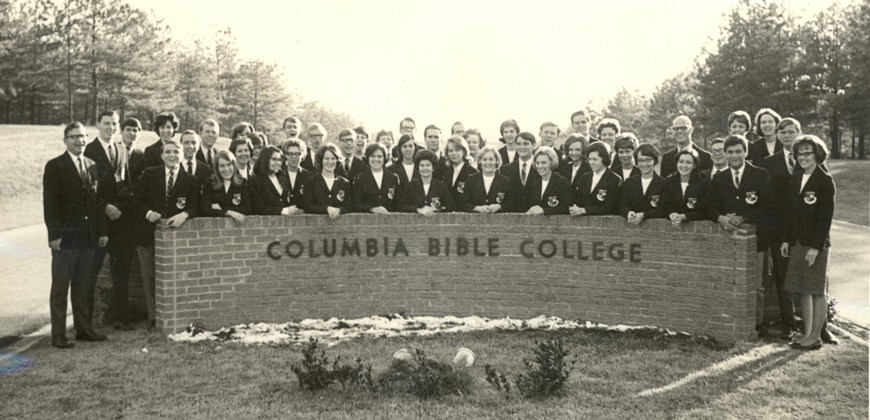 Columbia Bible College Ambassador Choir - late 1960s