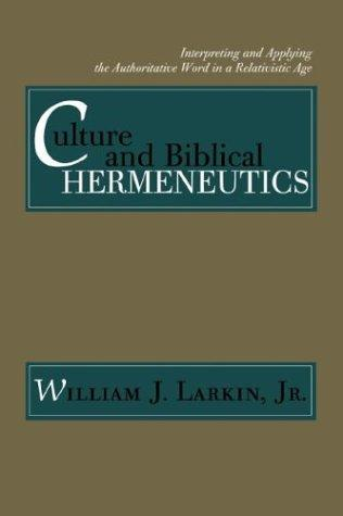Culture and Biblical Hermeneutics cover