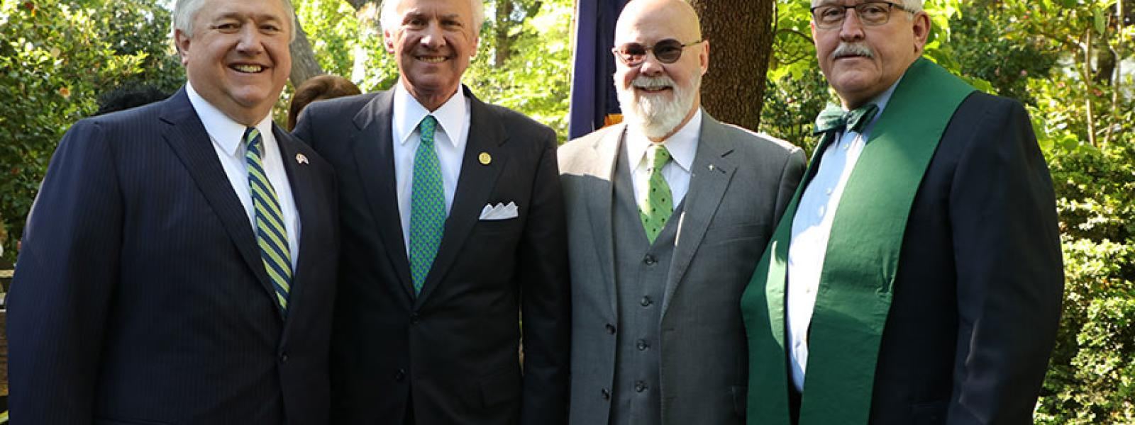 Earth Day at the Governor's Mansion: CIU President Dr. Mark Smith, Gov. Henry McMaster, CIU doctoral student Tom Mullikin, CIU Chaplaincy Professor Dr. Mike Langston