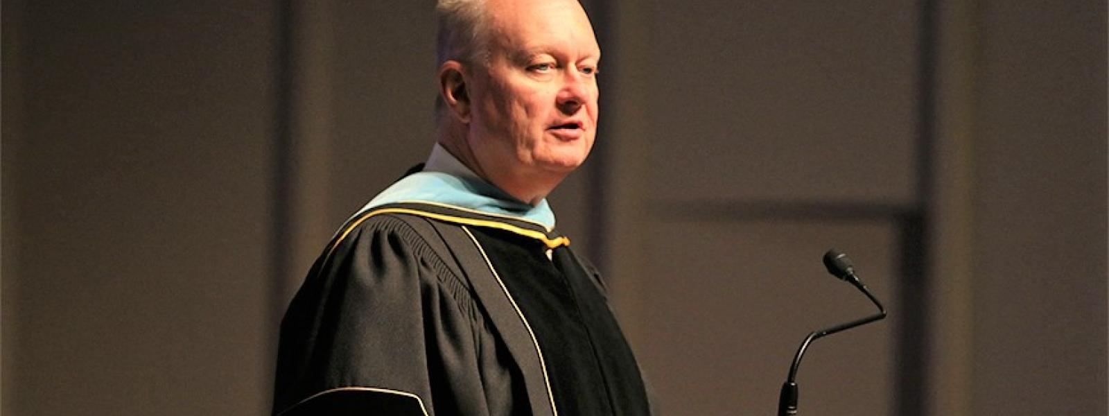 Dr. Ralph Enlow was the keynote speaker at the inauguration of CIU President Dr. Mark Smith.
