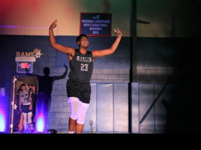 CIU Ram Jeff McIlwain, a senior, is introduced at Moore Madness.