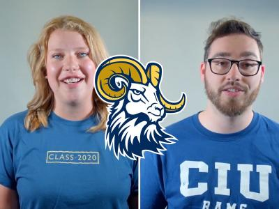 Members of the CIU Class of 2020: Laura Camplejohn and Andrew McNeill