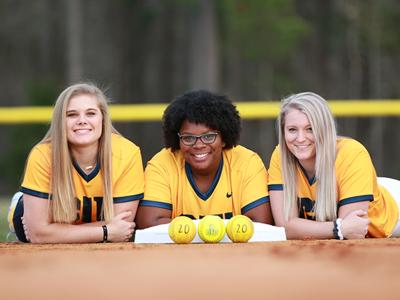 Seniors Kaylyn Devaney, Kayla Washington and Alyssa Allender