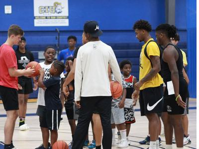 """Champions of Character: CIU Rams host """"Hoops for Hope"""" for local children (Photo by Renee Laine)"""