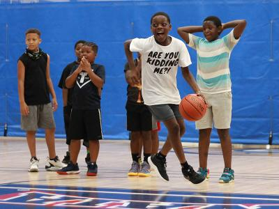Hoop for Hope in CIU's Moore Fitness Center.
