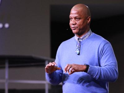 Darryl Strawberry speaks at CIU (Photos by Renee Laine)