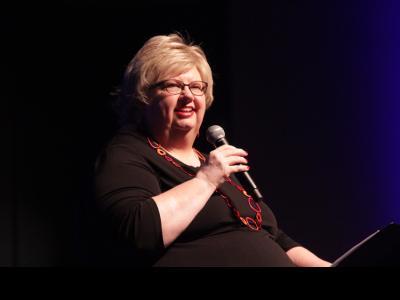 Liz Curtis Higgs speaks at Columbia International University