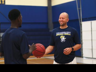 Rams Head Basktball Coach Tony Stockman
