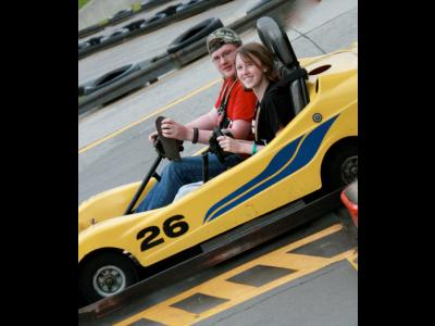 Gentlemen start your engines! CIU students Jon Shrack and Shelby Purvis get read